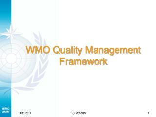WMO Quality Management Framework