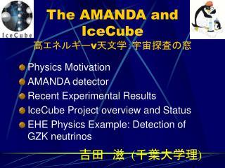 The AMANDA and IceCube  高エネルギー ν 天文学:宇宙探査の窓