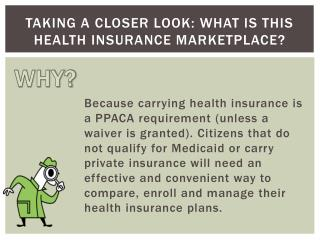 Taking a Closer Look: What is This Health Insurance Marketplace?