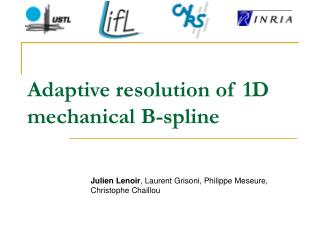 Adaptive resolution of 1D mechanical B-spline