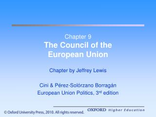 Chapter 9 The Council of the  European Union
