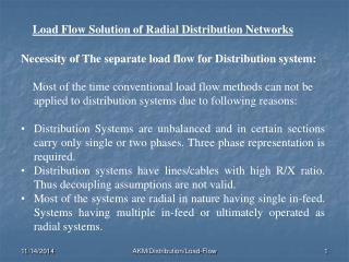 Load Flow Solution of Radial Distribution Networks