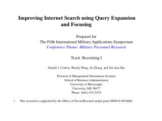 Improving Internet Search using Query Expansion and Focusing