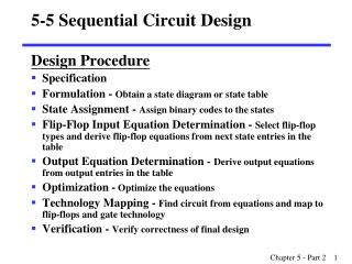 5-5 Sequential Circuit Design