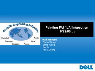 Painting FAI / LAI Inspection  9/29/06  rev.2