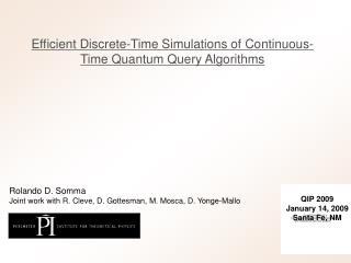Efficient Discrete-Time Simulations of Continuous-Time Quantum Query Algorithms