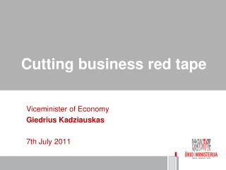 Cutting business red tape