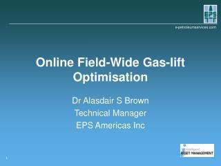 Online Field-Wide Gas-lift Optimisation