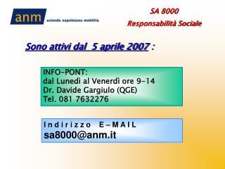 Info-point e indirizzo e- mail
