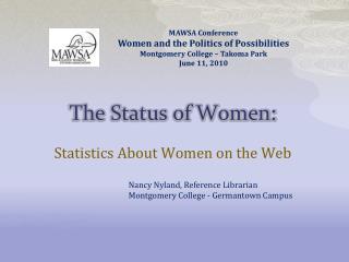 The Status of Women: