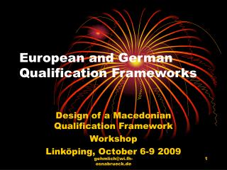 European and German Qualification Frameworks