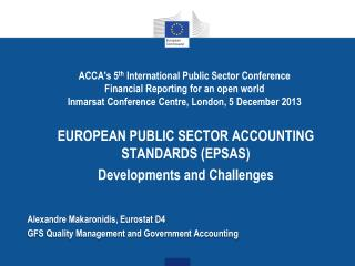 Alexandre  Makaronidis , Eurostat D4 GFS Quality Management and Government Accounting