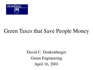 Green Taxes that Save People Money