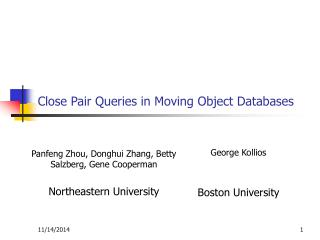 Close Pair Queries in Moving Object Databases