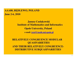 AAA80, BĘDLEWO, POLAND June 2-6, 2010