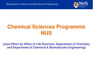 Department of Chemical & Biomolecular Engineering
