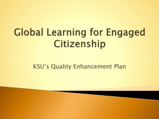 Global Learning for Engaged Citizenship