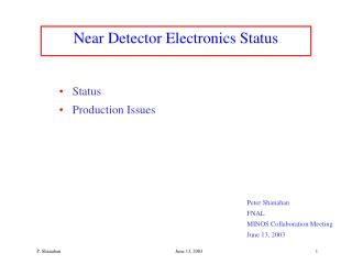 Near Detector Electronics Status