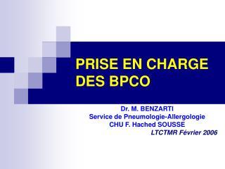 PRISE EN CHARGE DES BPCO
