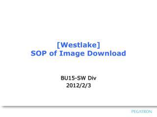 [Westlake] SOP of Image Download