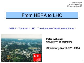 From HERA to LHC