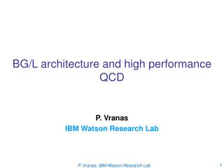 BG/L architecture and high performance QCD