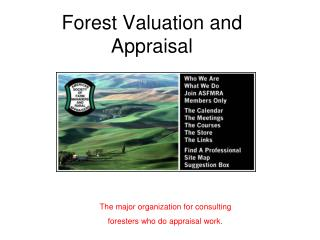 Forest Valuation and Appraisal