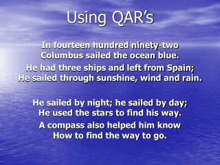 Using QAR's