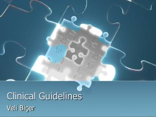 Clinical Guidelines and DSSs