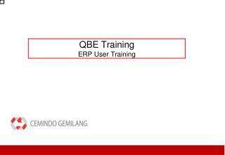 QBE Training ERP User Training