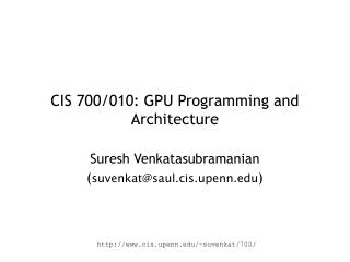 CIS 700