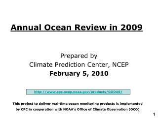 Annual Ocean Review in 200 9
