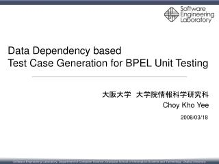 Data Dependency based  Test Case Generation for BPEL Unit Testing