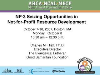 NP-3 Seizing Opportunities in  Not-for-Profit Resource Development