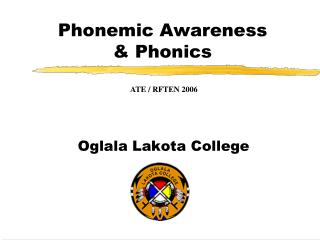 Phonemic Awareness  & Phonics