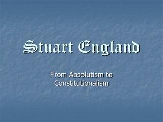 Stuart England