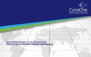 Enterprise Colocation:  How CFD Helps Optimize Cooling Perfo