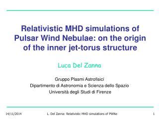 Luca Del Zanna Gruppo Plasmi Astrofisici Dipartimento di Astronomia e Scienza dello Spazio