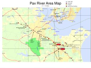 """Pax River Area Map (1"""" =  1.5 miles)"""