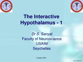 The Interactive Hypothalamus - 1