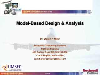 Model-Based Design & Analysis