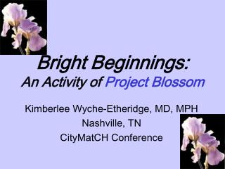 Bright Beginnings:  An Activity of  Project Blossom