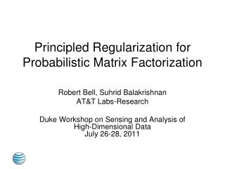 Principled Regularization for Probabilistic Matrix Factorization