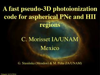 A fast pseudo-3D photoionization code for aspherical PNe and HII regions