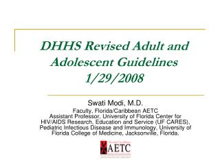 Revised Adult and Adolescent Guidelines 1/29/2008