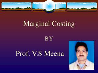 Marginal Costing BY