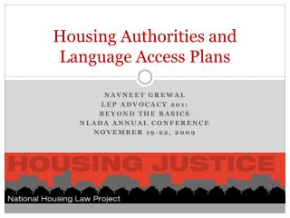 Housing Authorities and Language Access Plans
