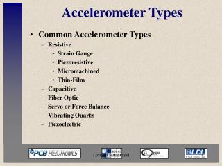 Accelerometer Types