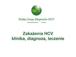 Zakażenia HCV klinika, diagnoza, leczenie