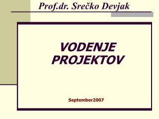 Prof.dr. Srečko Devjak